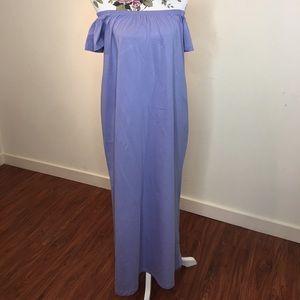 Off the shoulder maxi dress ASOS PETITE